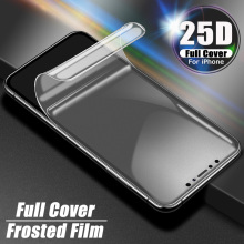 25D Гидрогелевая пленка для iPhone 11 Pro MAX, защита на весь экран для iPhone XR 7 8 6 6s Plus X XS, Защитная пленка для телефона, не стекло