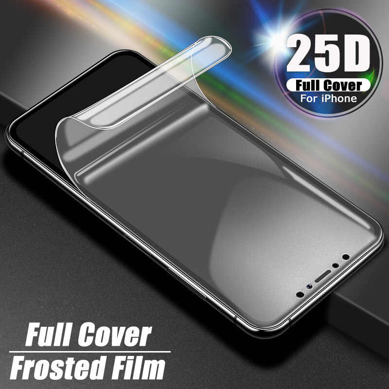 25D Hydrogel Film For iPhone 11 Pro MAX Full Screen Protector For iPhone XR 7 8 6 6s Plus X XS Phone Protection Film Not Glass