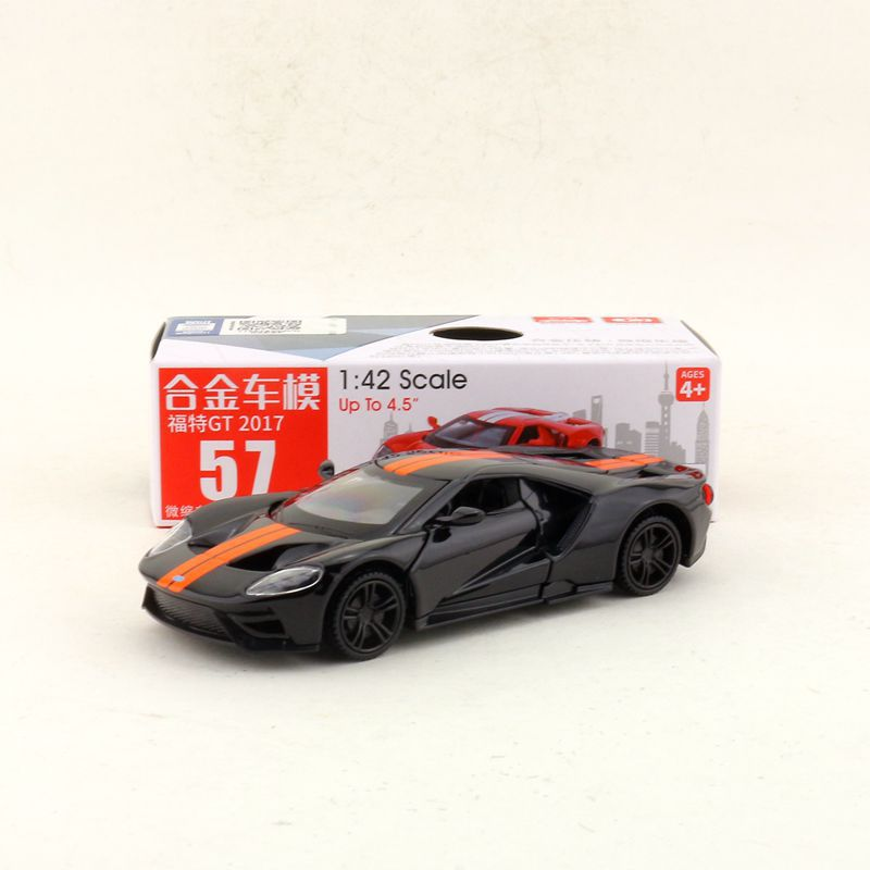 1:42 Scale 2017 Ford GT Alloy Pull-back Car Diecast Metal Model Car For Collection Friend Children Gift