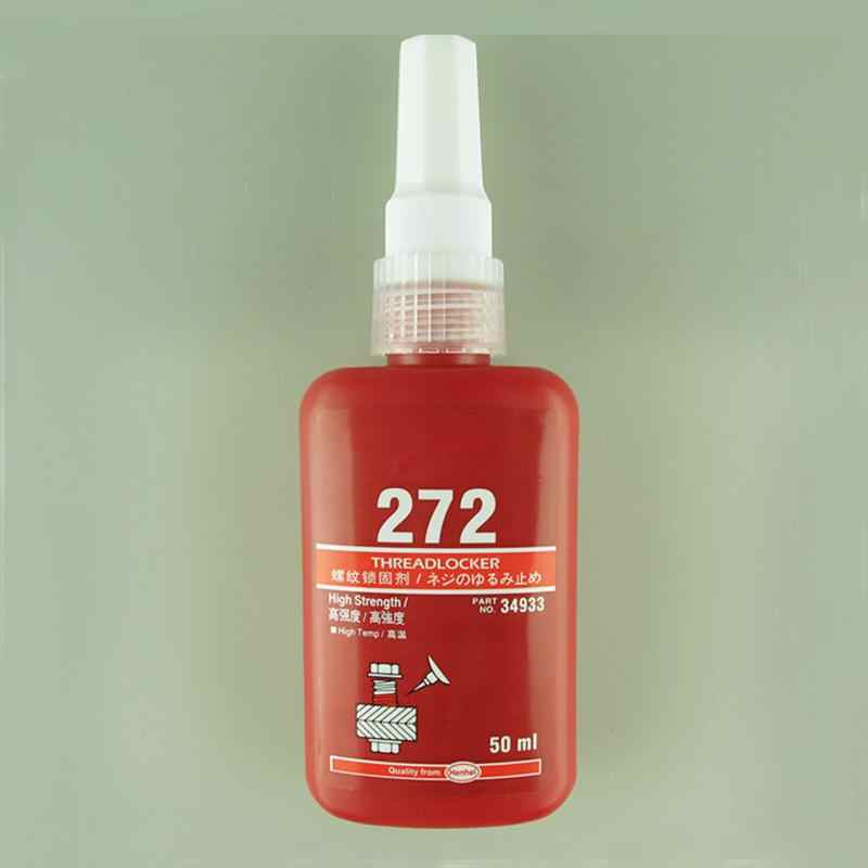 272 50ML Metal tornillo pegamento cilíndrico retenedor bloqueo adhesivo anaeróbico resistencia térmica ambiente pegamento de resina