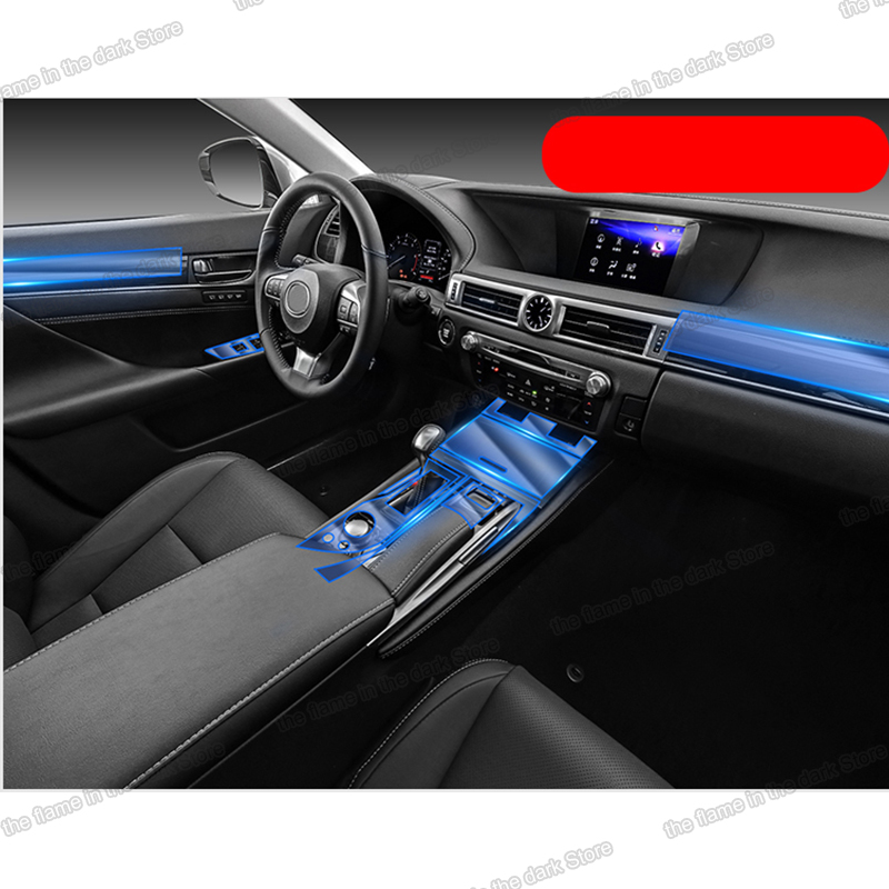 Lsrtw2017 TPU Car Central Control gear dashboard Film Protective Sticker for <font><b>Lexus</b></font> <font><b>GS</b></font> <font><b>2012</b></font> 2013 2014 2015 2016 Accessories image