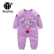 Spring Autumn Baby Girls Jumpsuit Long Sleeve Cotton Pajamas infant Cartoon Rabbit ears Clothes Boys Rompers ropa bebe Overalls i k new spring autumn baby clothes infant rompers thick warm cotton jumpsuit soft pajamas flower pattern long sleeves py25040