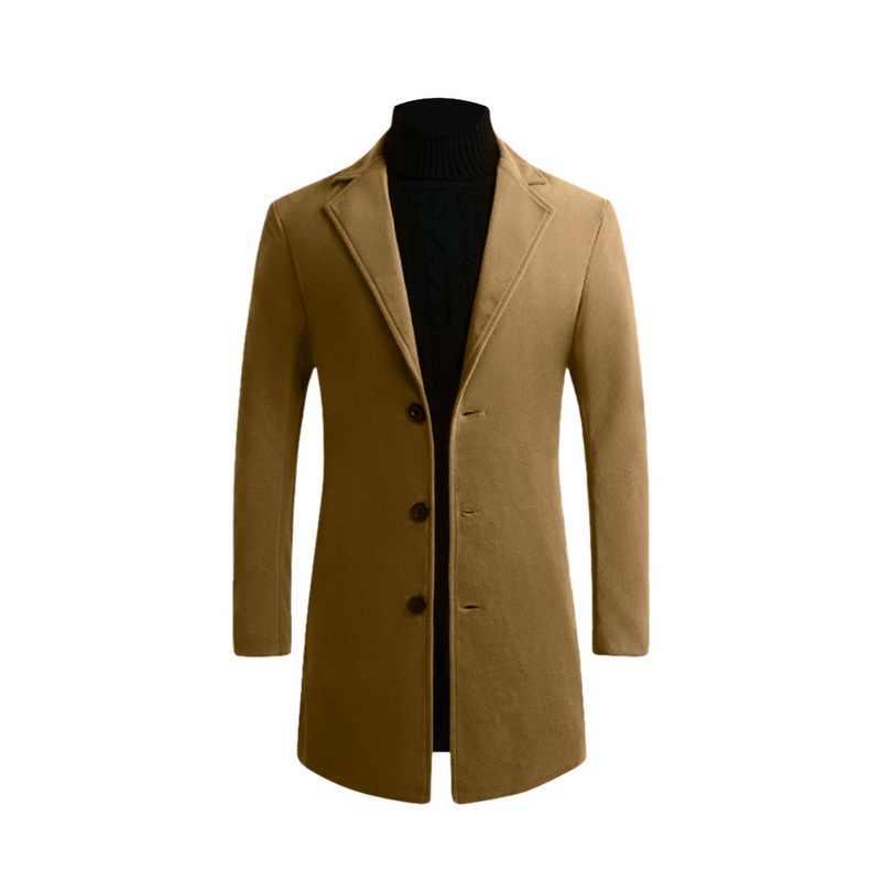남성 모직 코트 남성 자켓 대형 남성 의류 남성 캐주얼 따뜻한 트렌치 코트 모직 코트 가을 겨울