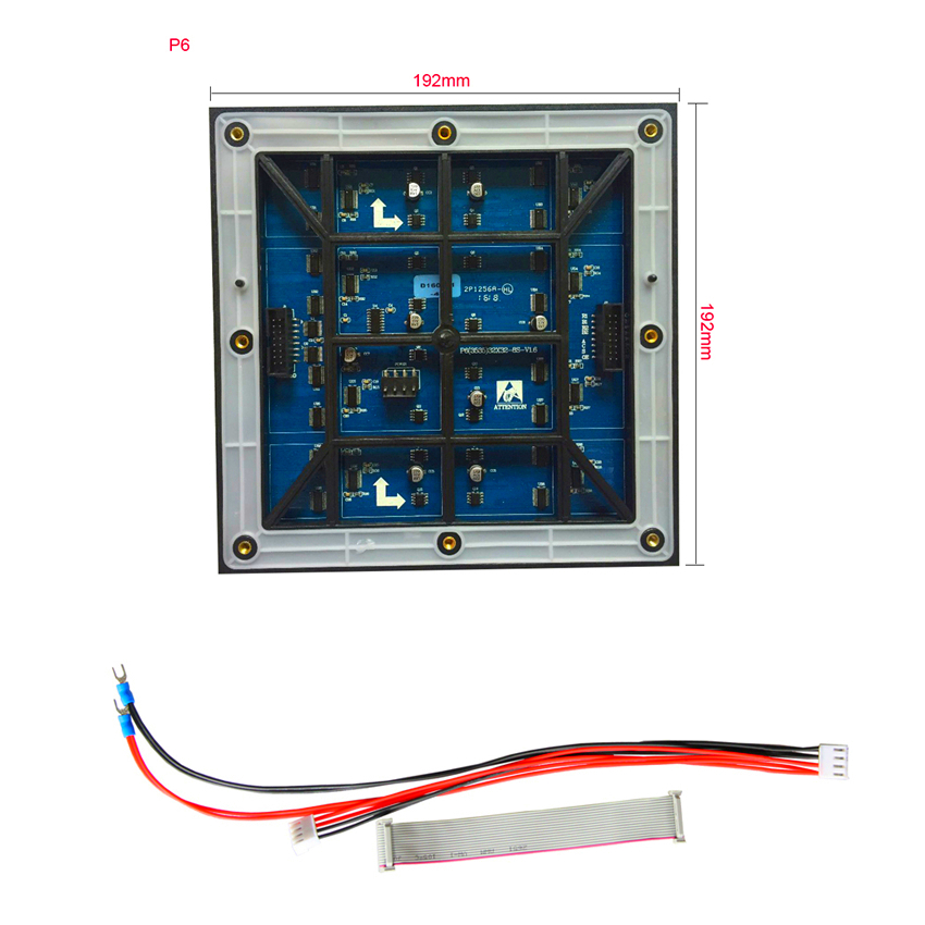 Led Panel Module Screen P6 Led Module Outdoor Full Color High Brightness 6500 Nits 192x192mm 32x32piex Make In China