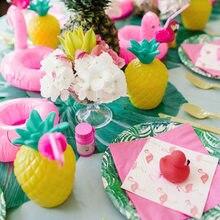 2021 decoração de festa havaiana flamingo abacaxi tartaruga folha balões luau festa praia verão tropical decoração aniversário crianças