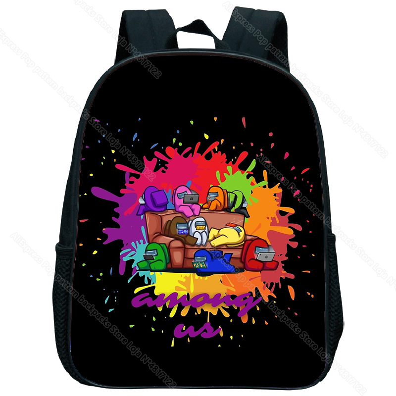 Children Game Among Us Backpack Kids Cute Cartoon Kindergarten Schoolbag Toddler