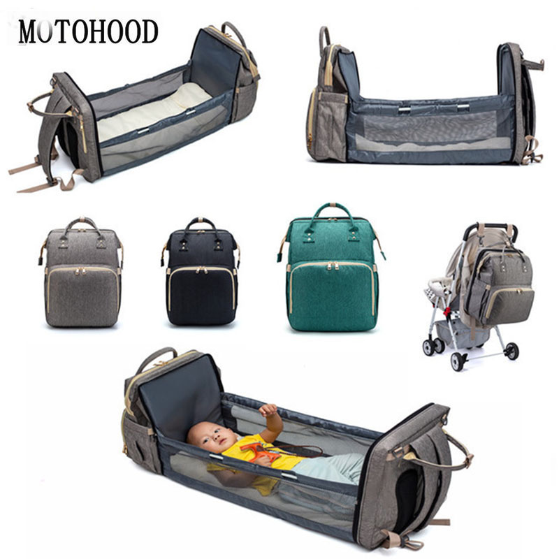 MOTOHOOD Mother Diaper Bags For Mom Multifunctional Nappy Bag Bed Backpack For Women Waterproof Mother Bag Baby Bags (9)