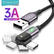 KUULAA Drehen USB Typ C Kabel 3A Schnelle Lade Typ-C Ladegerät Kabel Handy für Huawei Samsung Xiaomi USB-C USBC Schnur