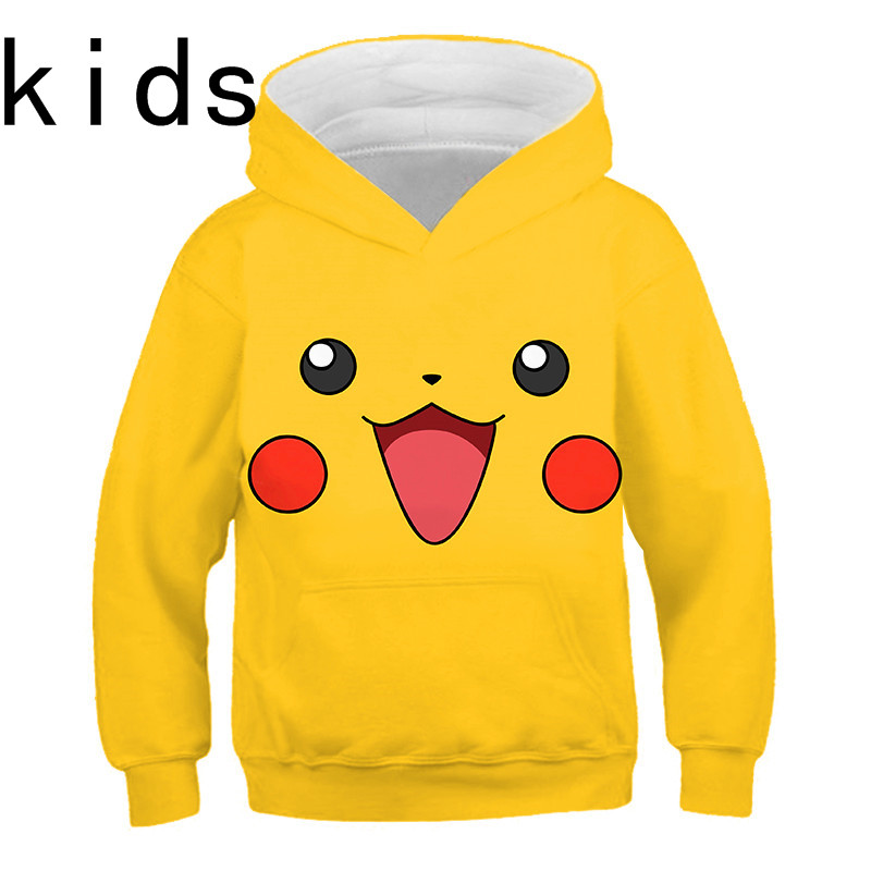 Spring Pokemon Detective Pikachu 3D Hoodies Streetwear Children's Sweatshirt 3D Hoodies Boy's/girl's Long Sleeve Kids Hoodie