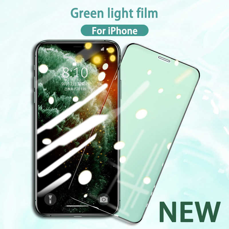 New Eye Protection Green Light Tempered Glass For Iphone 11 Pro Xs Max Xr Full Cover Iphone 7 8 6 6s Plus Screen Protector Glass Phone Screen Protectors Aliexpress