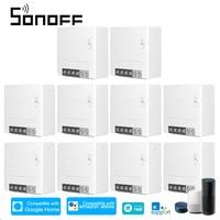 SONOFF-interruptor inteligente MINI R2, módulo de interruptor de dos vías con Wifi a través de la aplicación remota e-welink, funciona con Alexa y Google Home, 10 Uds.