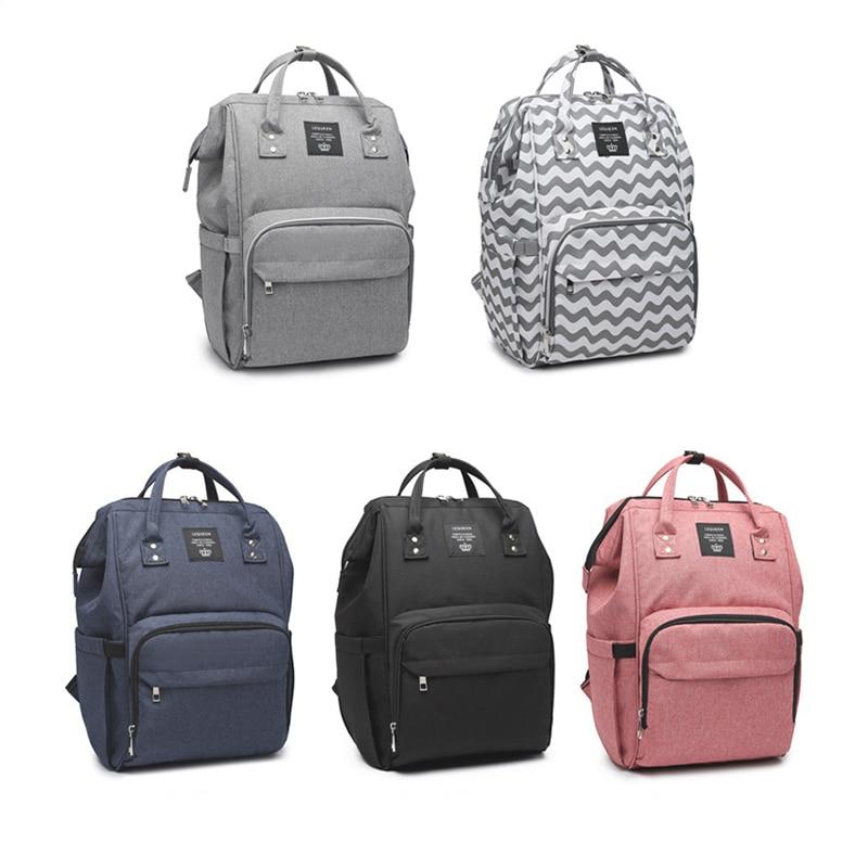 LEQUEEN Diaper Bag Fashion Mummy Maternity Nappy Bag Large Capacity Bag Travel Stroller Backpack Designer Nursing for Baby Care