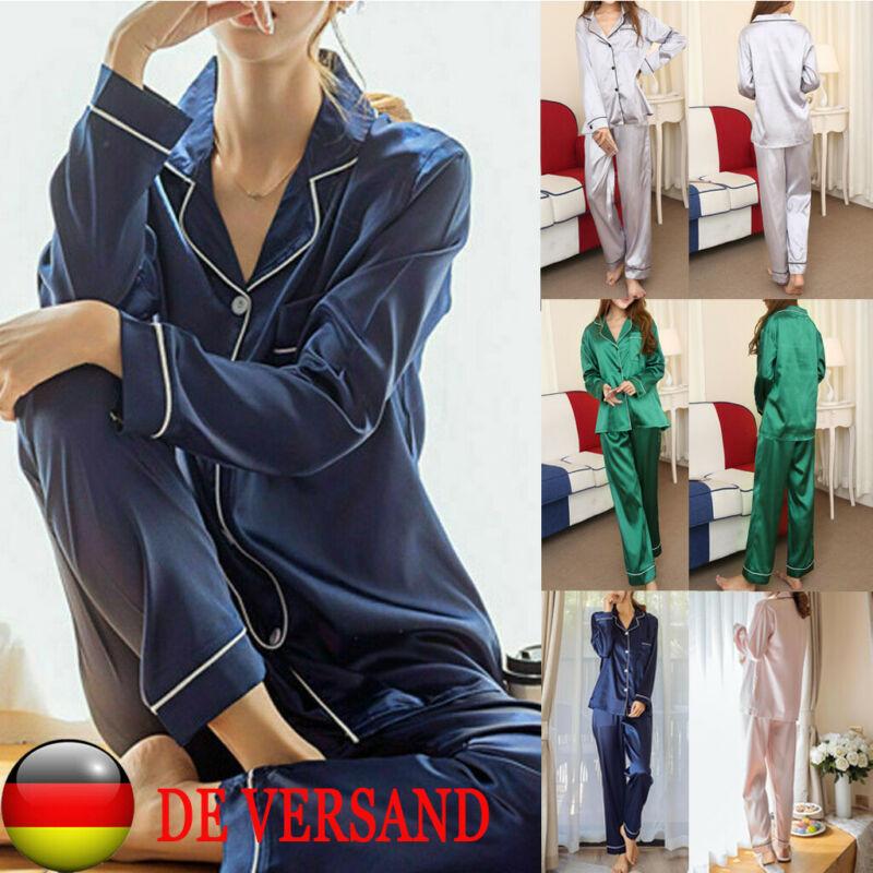 2020 HOT Elegant Striped Single-breasted Long Sleeve Spring Autumn Silk Satin Lady Pajamas Set Women Sleepwear Sexy Lingerie