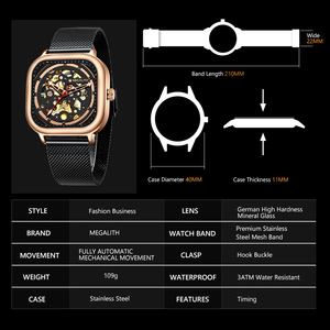 Image 3 - MEGALITH 2019 New Arrivals Top Brand Automatic Mechanical Watch Men Fashion Casual Waterproof watch Man Clock Relogio Masculino