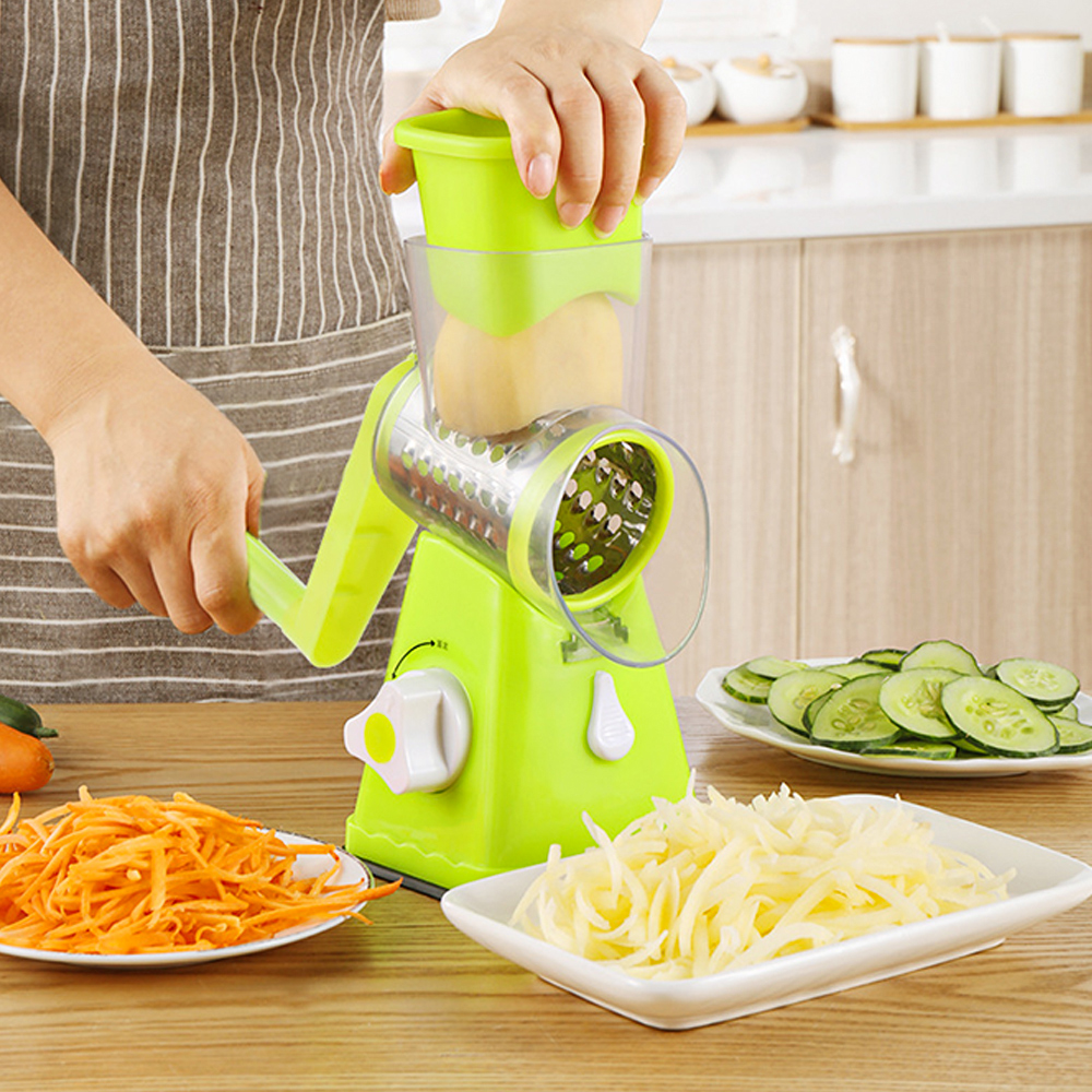 Vegetable Cutter Round Slicer Graters Potato Carrot Cheese Shredder Vegetable Chopper Kitchen Roller Gadgets Tool Food Processor