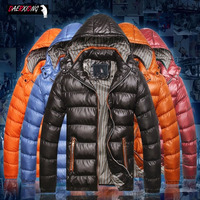 M 7XL New Winter Jacket Men Solid Thick Warm Hooded Down Jacket Coat Mens collar Windbreaker Feather Parka Brand Large Size