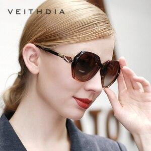 Image 5 - VEITHDIA TR90 damskie okulary przeciwsłoneczne spolaryzowane gradientowe szkła luksusowe damskie designerskie okulary przeciwsłoneczne okulary damskie 3171