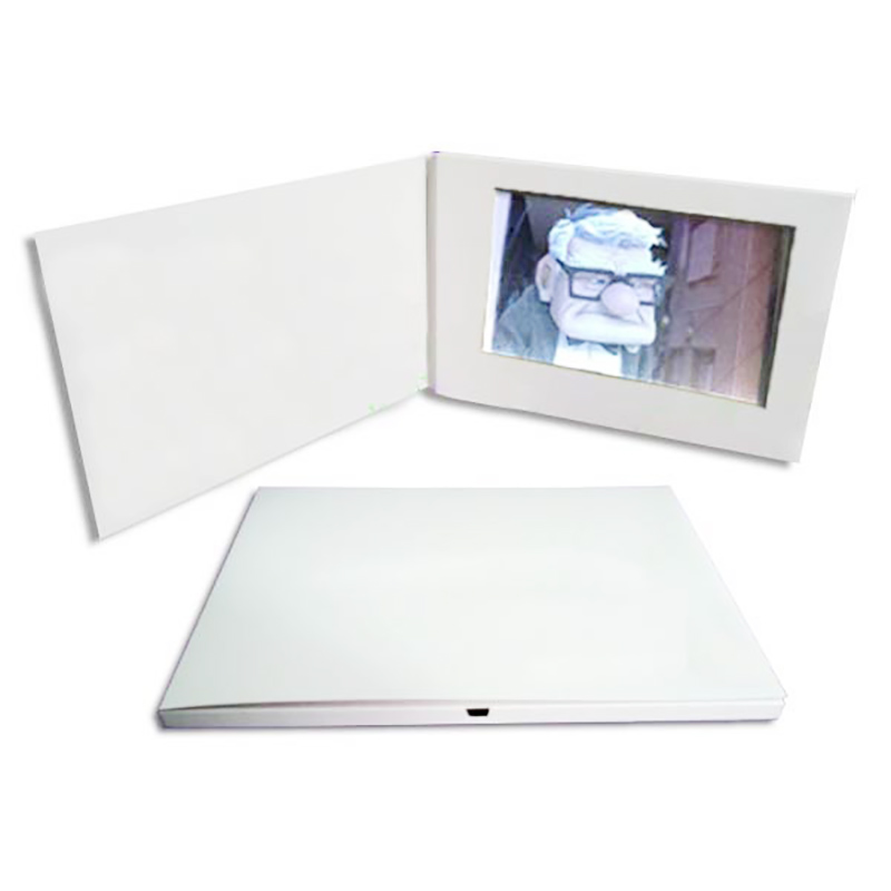 7 inch LCD video blank cardwhite video card (1)