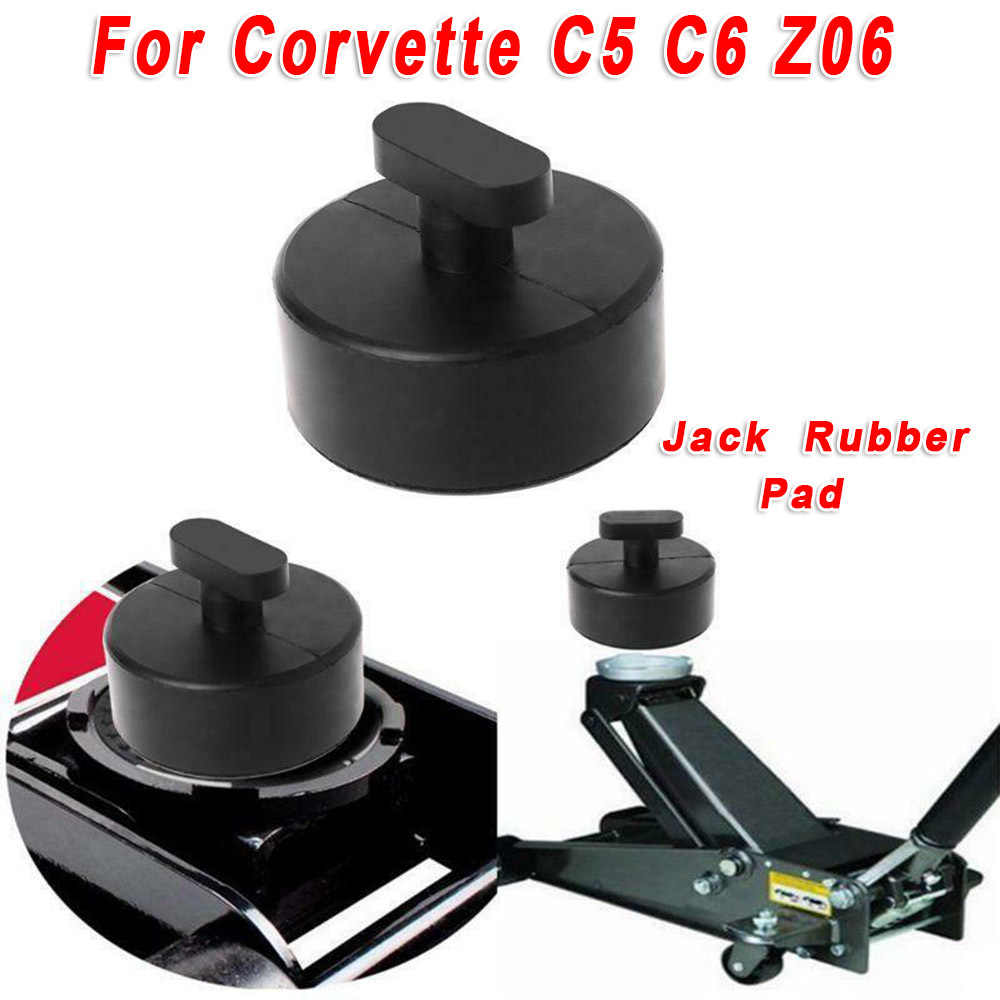 1pc Car Vehicle Jack Lift Pad Jacking Lifting Rubber Mat Black Fit For Corvette C5 C6 Z06 Jack Lift Pad Accessories
