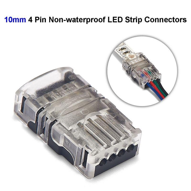 3 sztuk 4pin złącze taśmy LED 10mm złącze drutu dla 5050 RGB niewodoodporny Led diody na wstążce do podłączenia drutu