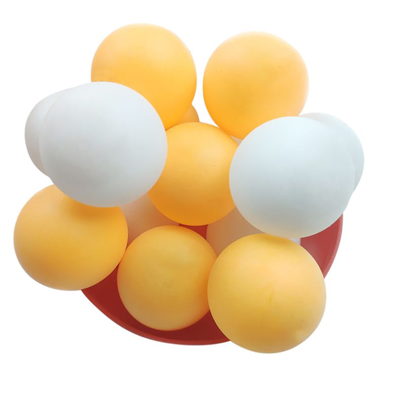 60pcs/set 40mm Professional Ping Pong Ball Lightweight Corrosion Resistant Durable Damp-proof PVC Training Ping Pong Balls