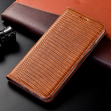 Lizard pattern Genuine Leather phone Case For OnePl