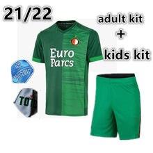 Novo 2021 22 menino masculino crianças kit feyenoordes v. Persie masculino kit toornstra jorgensen homem fora adulto camisa vilhena berghuis curto kit