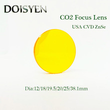 CO2 Laser Engraving Cutting Machine Focus Lens Plano-convex lenses Dia.18 19.05 20 mm FL38.1 50.8 63.7  76.2 101.6 127mm цены