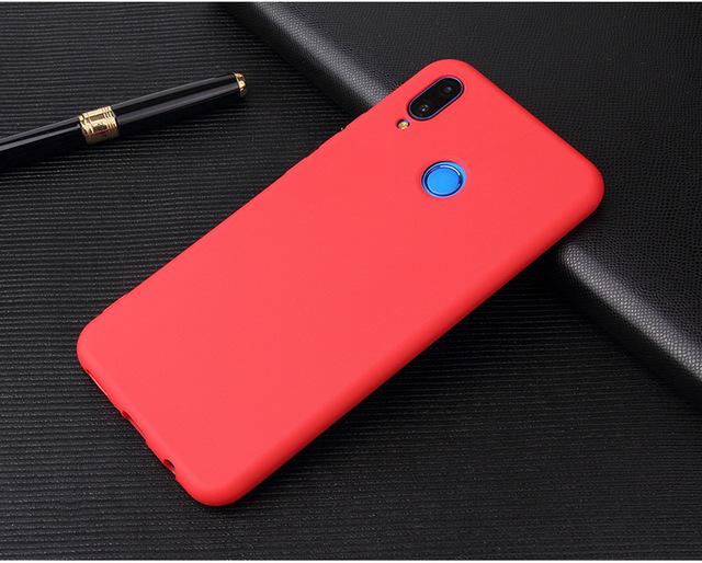 Huawei Y9 Y5 Y6 Y7 Pro 2019 Candy Color Case for Honor 6A 6C 7A 8A 8C 5X 6X 7X 8X Soft Case on Honor 8 9 10 20 Lite Silicon case