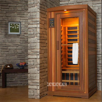 Household Single-person Light Dry Steaming Room High-quality Wooden Dry Steam Room Dry Sauna Room 110V/220V 1600W