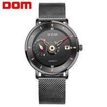 Novo 2020dom relógios masculinos marca de aço esportes relógios quartzo preto relógio militar à prova dwaterproof água