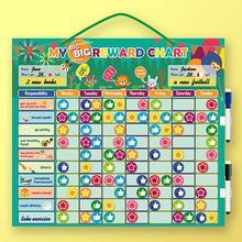 Magnetic Reward Behavior Chores Chart Board Educational Table Calendar Kids Toy