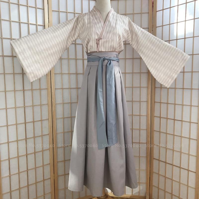 Women Traditional Chinese Hanfu Retro Dress Fairy Princess Tang Suit Folk Dance Performance Costume Haori Kimono Set Yukata Robe
