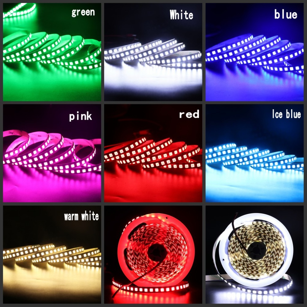 H49320a89fd674ac2b414426b98fe6c66Z 5M Flex LED Strip 5054 5050 SMD 120leds/m Flexible Tape Light DC 12V More Brighter Than 2835 5630 7 Colors for Home Decoration