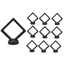 10 Pcs Transparent Jewelry Pendant Suspension Display Stand Acrylic PET Film Nail Sticker Packaging Box Shoot Props
