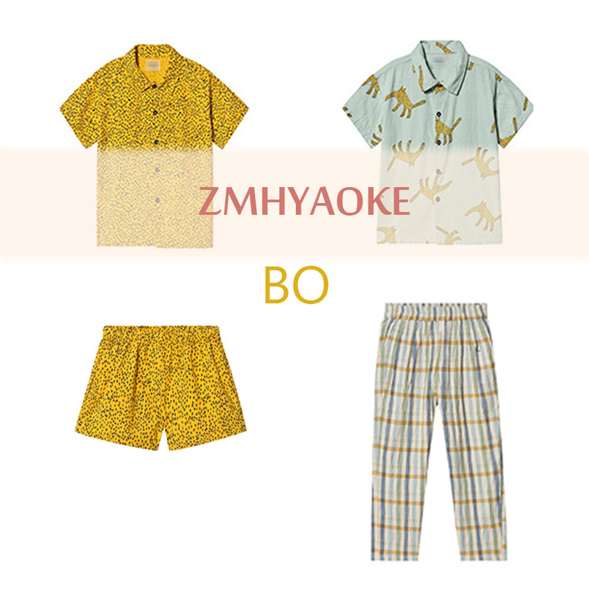 Pre-sale ZMHYAOKE-Bobo Ch* 2020 Summer Baby Girls Clothes Children's Sets Fashion Beach Christmas Boutique Kids Boys Clothes