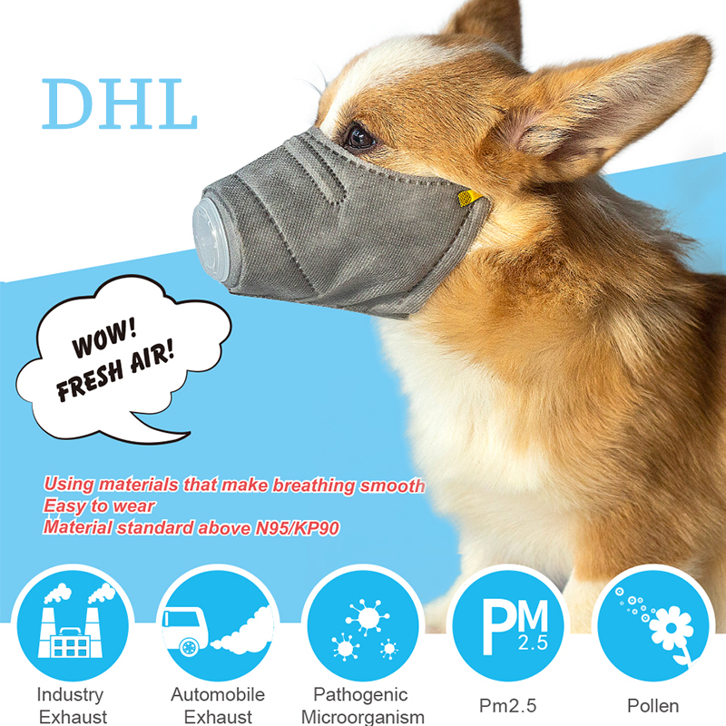 Dog Soft Cotton Face Mask Breathable Pet Respiratory PM2.5 Filter Anti Dust Gas Pollution Muzzle Anti-fog Haze Masks 5pcs(China)