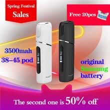 Pluscig P7 مجموعة سيجارة إلكترونية مشحونة تصل إلى 38 45 التوافق المستمر smokable مع عصا التبغ التدفئة