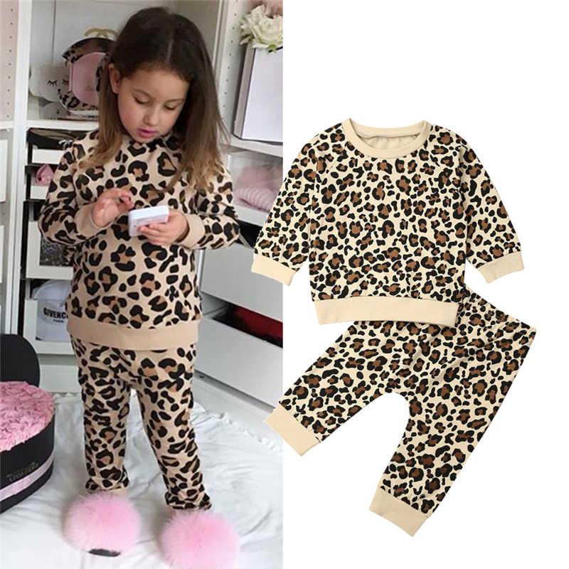 Suéter para bebés con estampado de conejito de leopardo para niños ropa linda para niñas pequeñas conjunto Oullovers 1-7T prendas de vestir exteriores