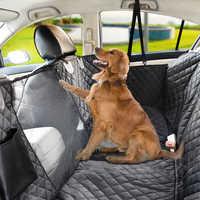 Tampas de assento do carro do cão à prova dwaterproof água ver malha crianças e animal estimação gato portador do cão mochila esteira para animal estimação viagem assento capa