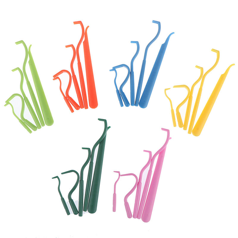 5pcs/lot Pets Tick Removal Tool Dual Teeth Tick Twister Cats Dogs Cleaning Supplies Mites Twist Hook Remover Hook Pet Supplies
