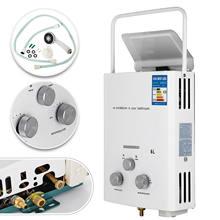 Calentador de agua caliente sin tanque, 6L, para autocaravanas, propano, Gas, LPG, a petición, 2GPM