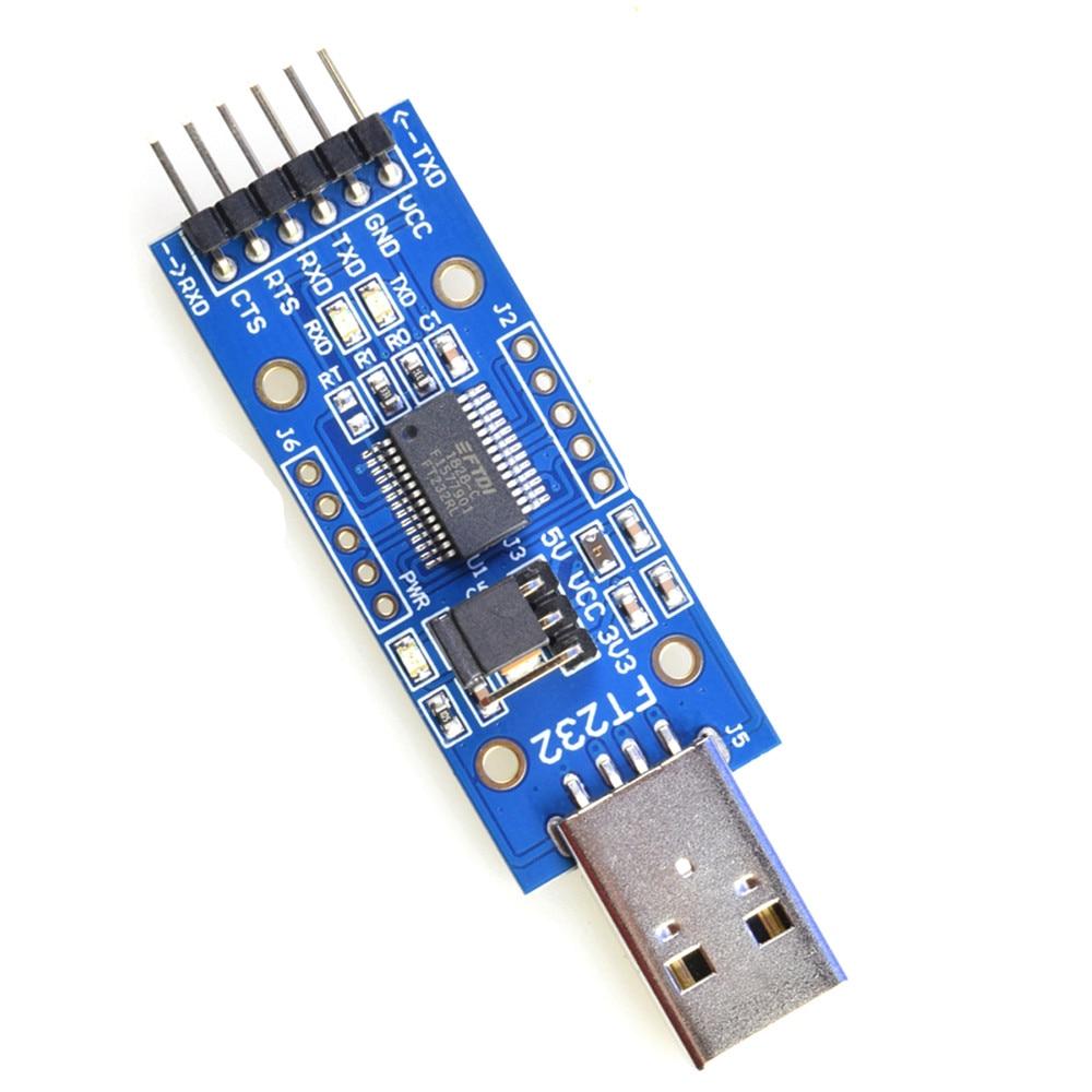 Taidacent 5V 3.3V Micro Usb To Serial USB To Ttl Converter Ftdi FT232RL Module IOT Uart FT232R