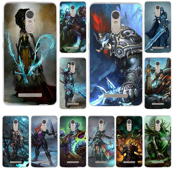 Mobile Phone Cases for Xiaomi Redmi Mi Note 2 3 3S 4X 4A 5 6 5 5S 5A 6 8 A1 Pro Plus Bags World Of Warcrafts Lich King Stormrage image