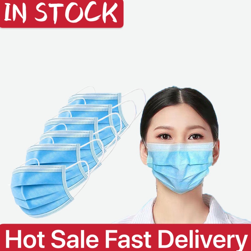 In stock Anti virus coronavirus three-layer disposable protective masks dust-proof thickened and breathable general packag title=