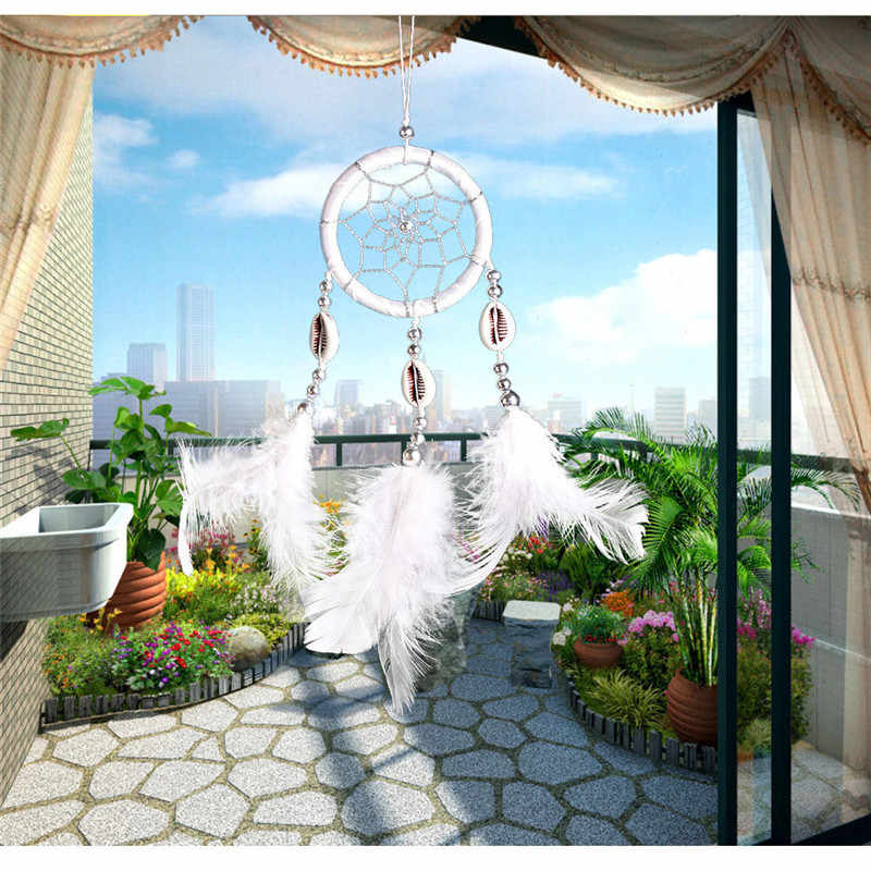 1 Pc Home Decoration Dream Catcher Feathers Hand-Woven Ornaments Birthday Graduation Cute Gift Wall Hanging Decor For Car