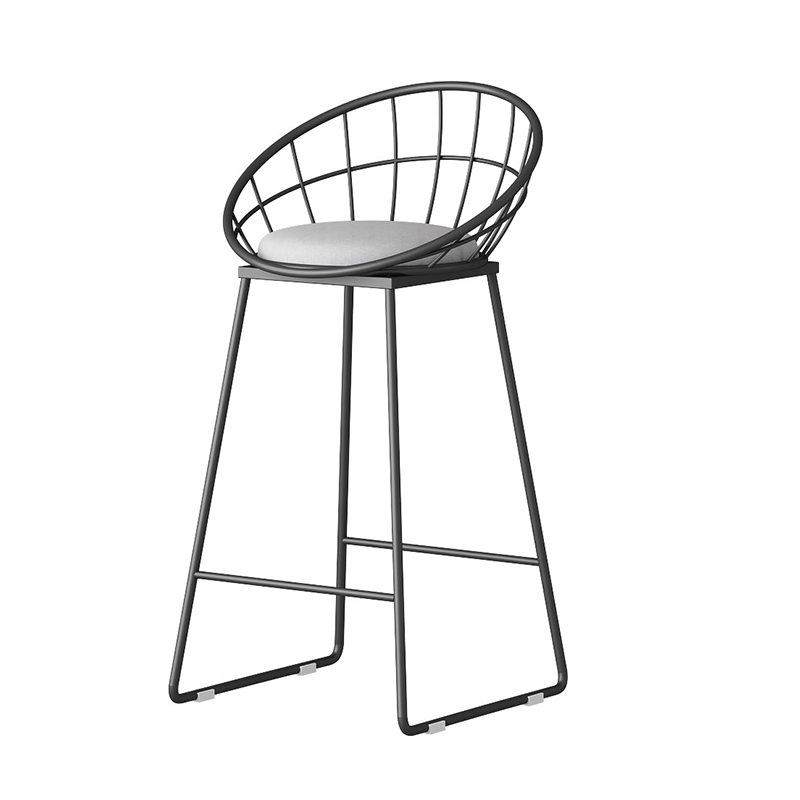 Nordic Light Luxury Dining Chair Home Ins Net Red  Stool Back Simple Iron Makeup  Bar