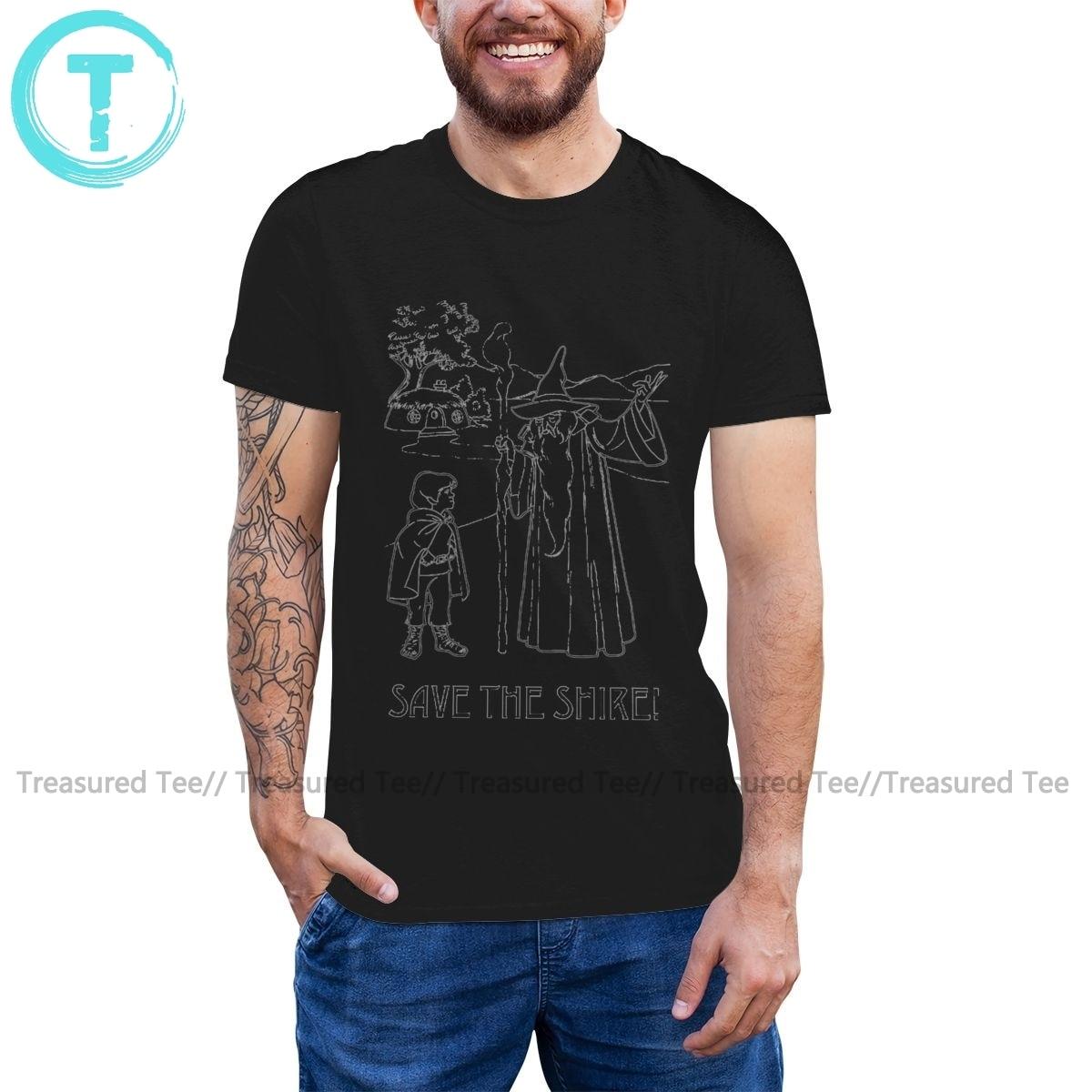 Gandalf inspired Fireworks black cotton t-shirt FN9891