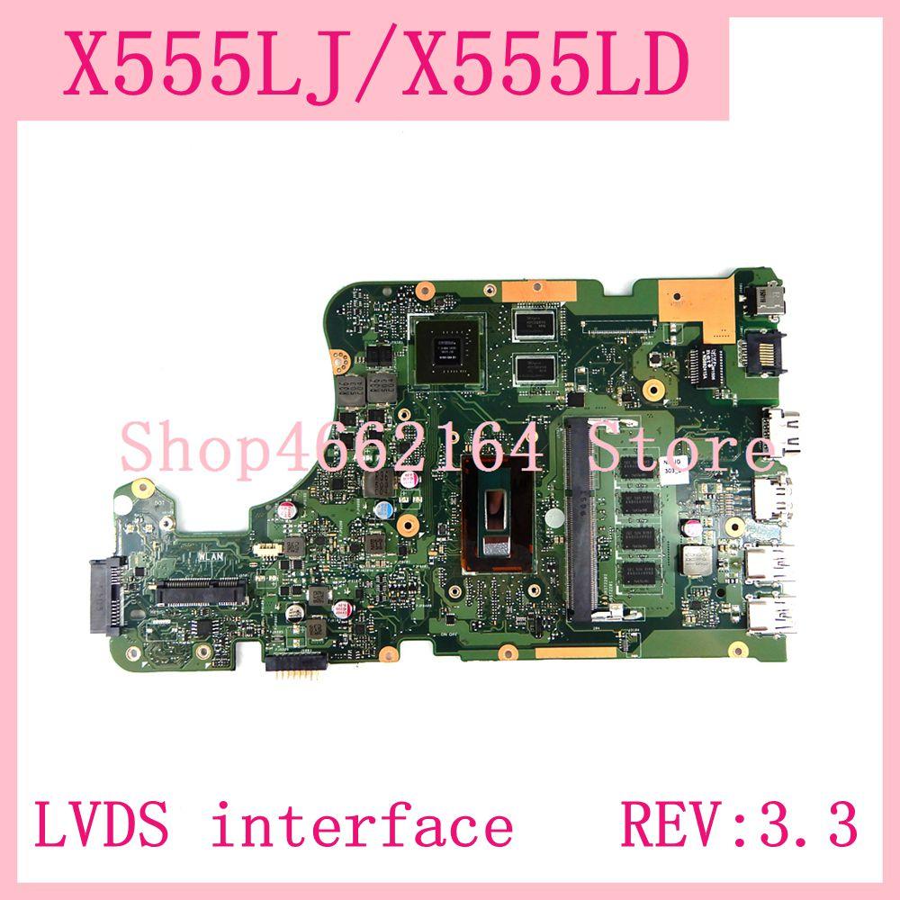 X555lj lvds interface 4g ram rev 3.3 gt920m/2g placa-mãe para asus x555l a555l k555l f555l w519l x555ld x555lj computador portátil mainboard