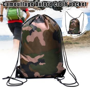 Wodoodporny plecak we wzór maskujący sznurkiem torba na siłownię podróż sportowa torba na zewnątrz lekki Dropshipping SM tanie i dobre opinie CN (pochodzenie) kieszonkowe narzędzia uniwersalne 225087